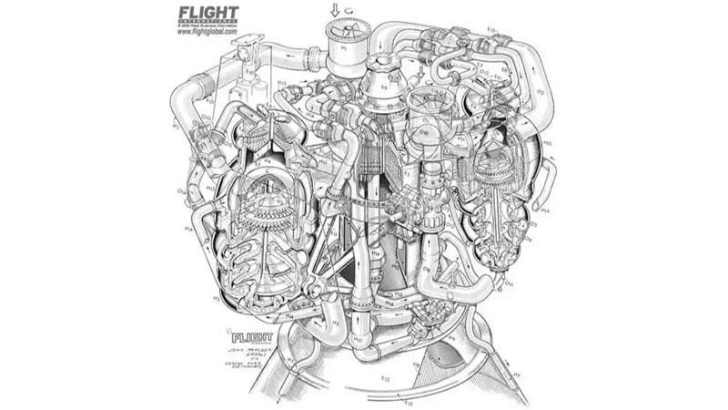 ilustración motor lanzadera