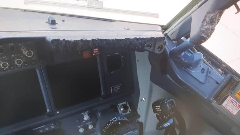 Desperfectos creados por el gato encerrado dentro del avión
