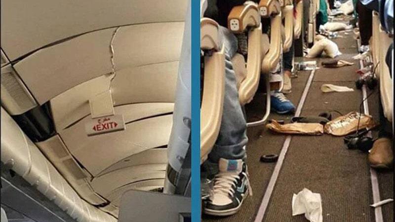 daños producidos en un airbus a330 de etihad airways por grandes turbulencias