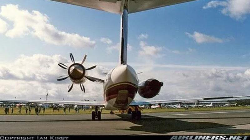 comparacion entre el motor jt8d y el ge36 unducted propfan en un avion md80